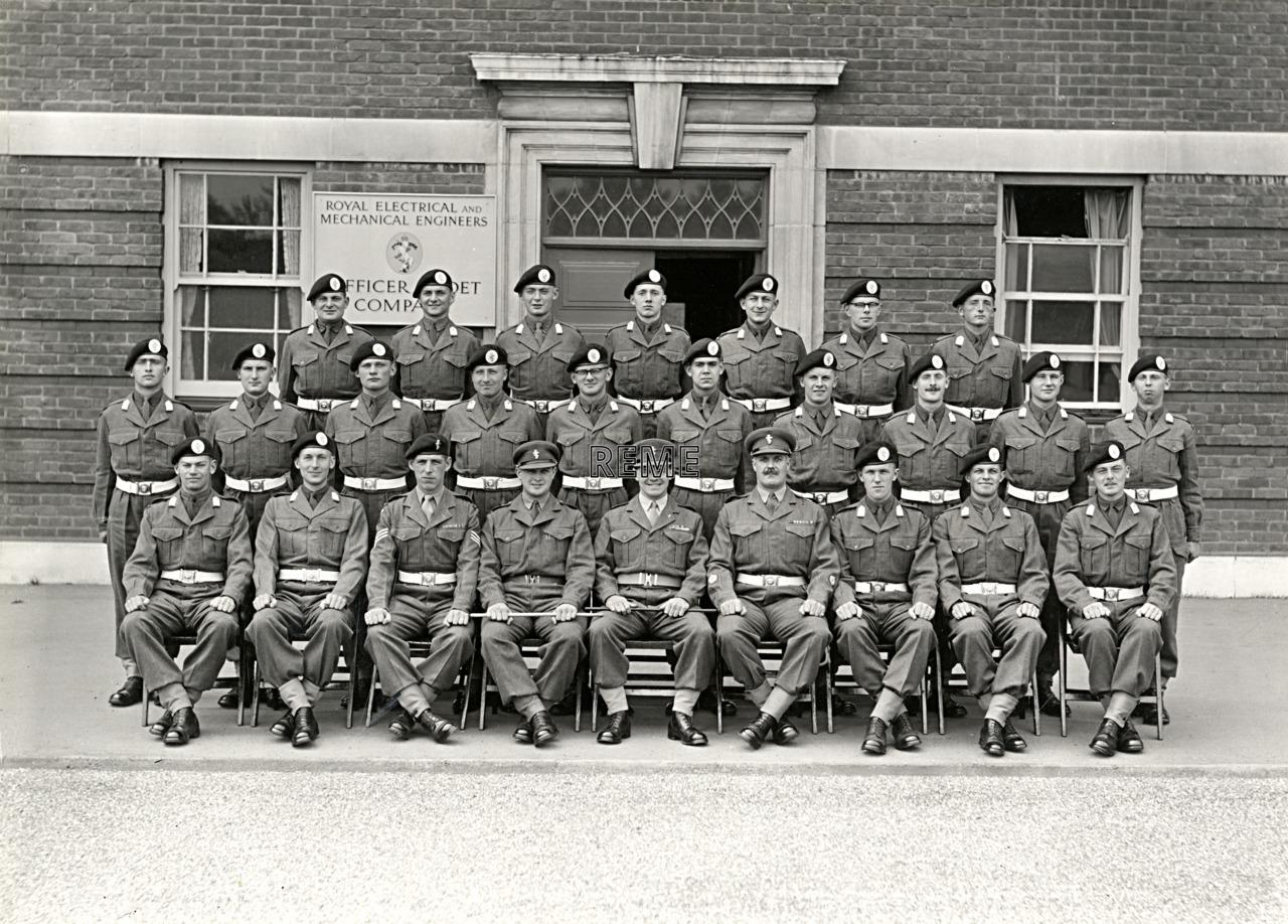 Officer Cadet Company, REME, Bordon: Intake No 38, June 1956