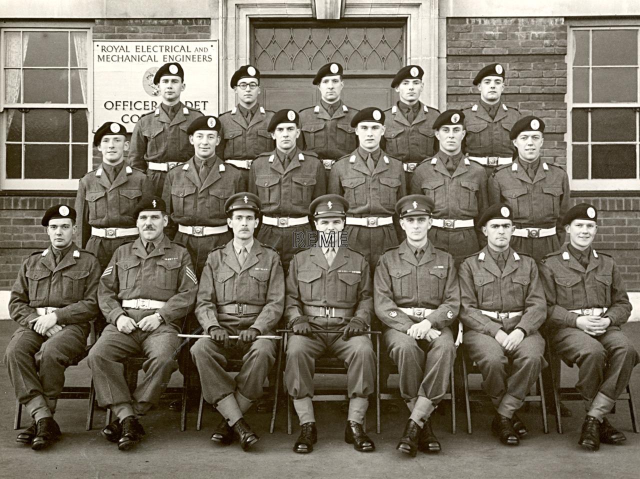 Officer Cadet Company, REME, Bordon: Intake No 44, January 1957