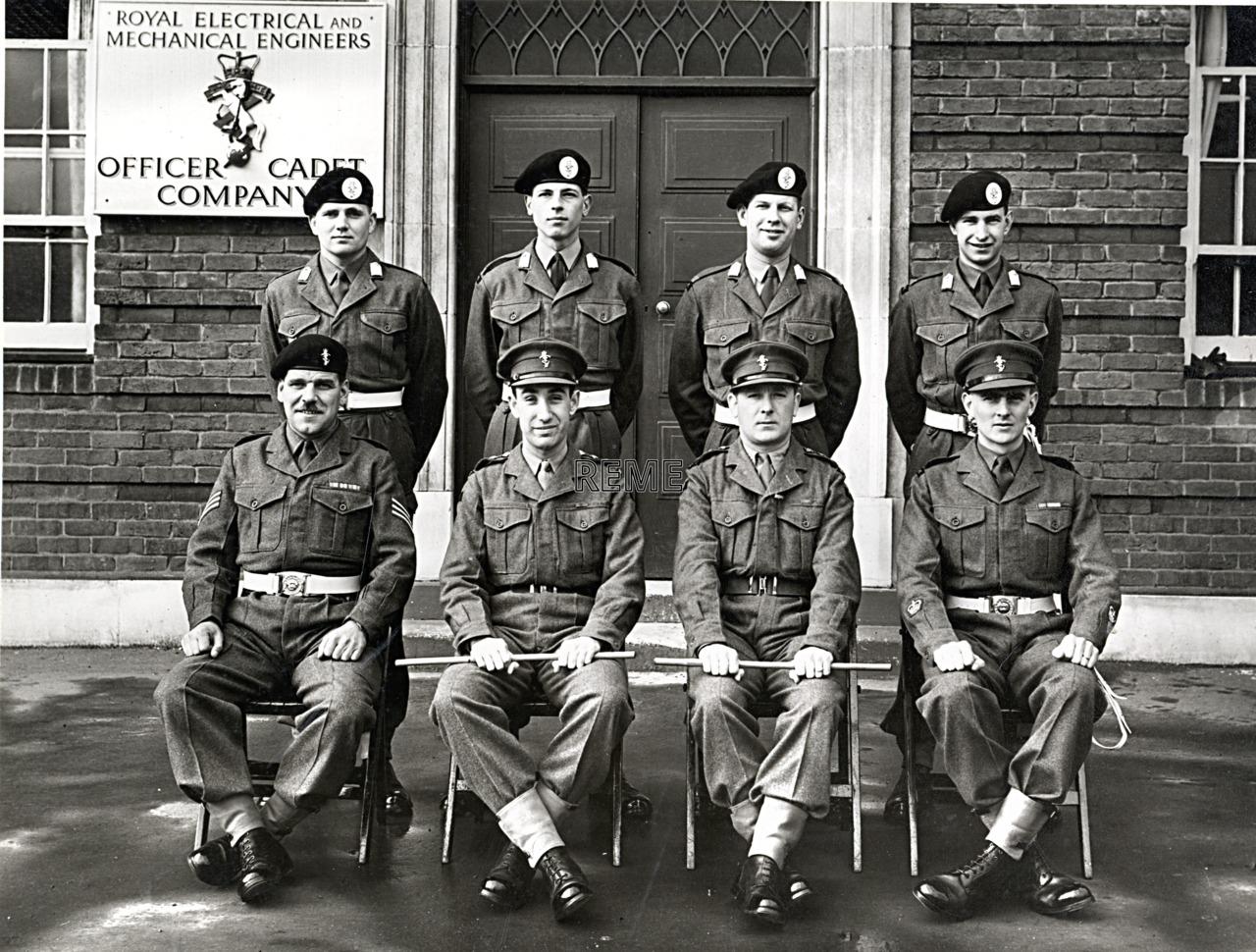 No 55 Cadet Officer General Course, Bordon: December 1957