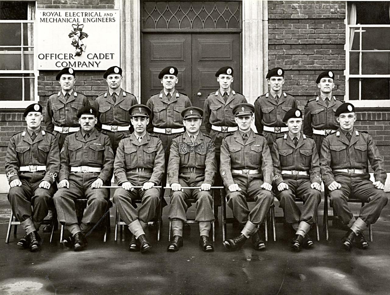 No 56 Cadet Officer General Course, Bordon: January 1958