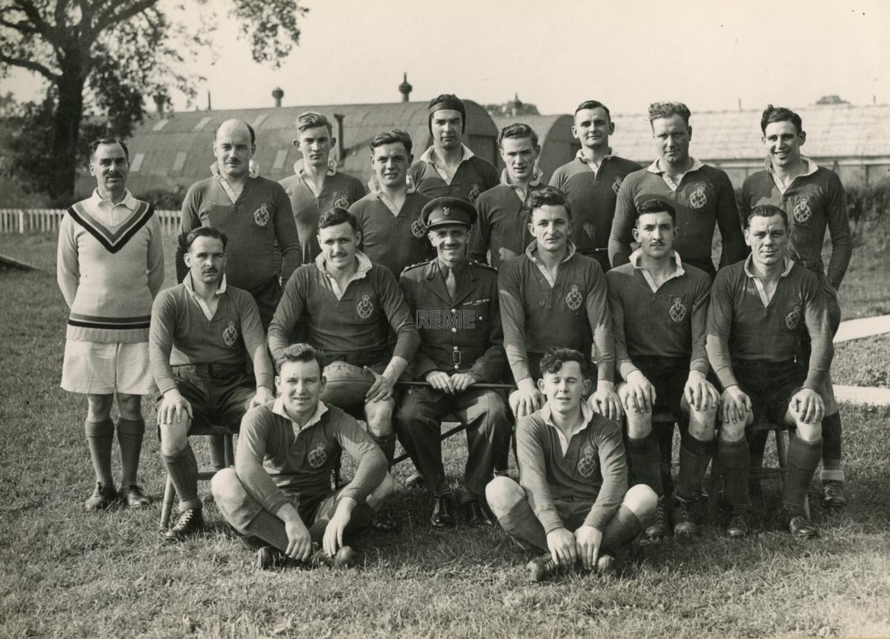 REME v Barts 1946 Rugby Match