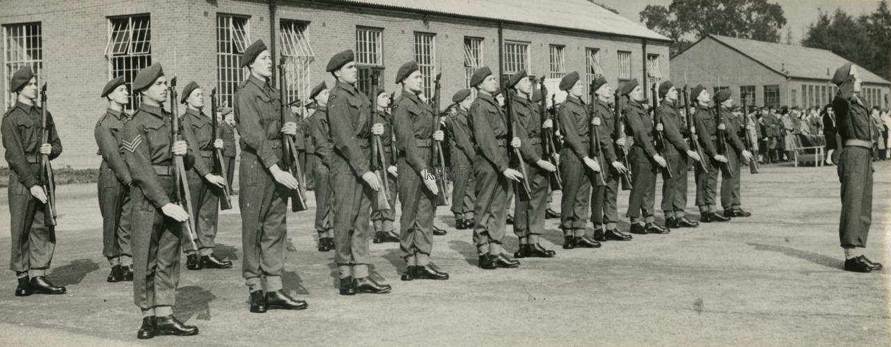 Guard of Honour at REME Birthday Parade, 1946
