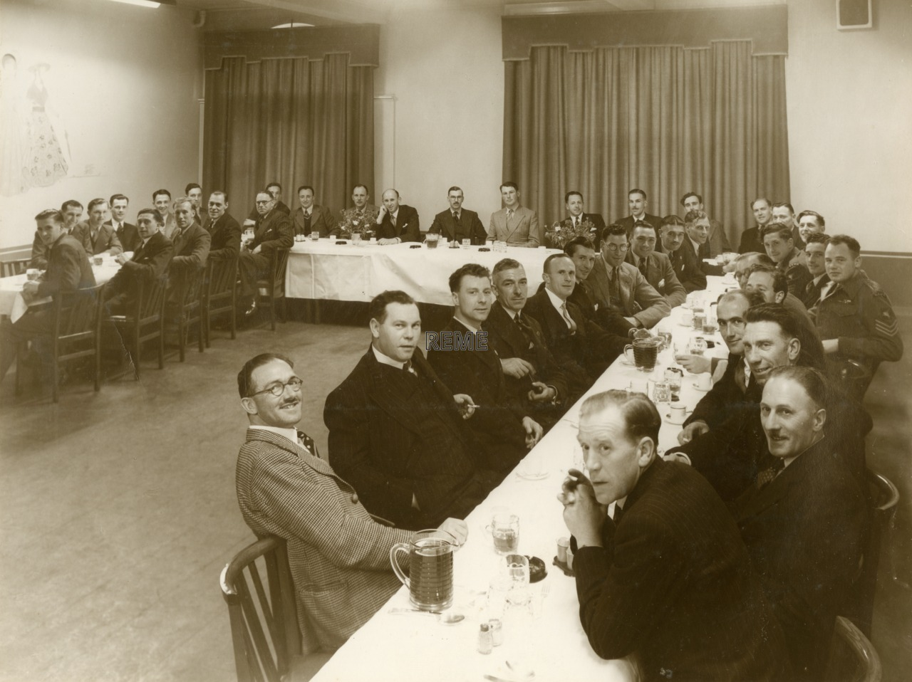 The first Reunion of REME Airborne personnel at The Chevrons Club, Sloane Square, London, 1948