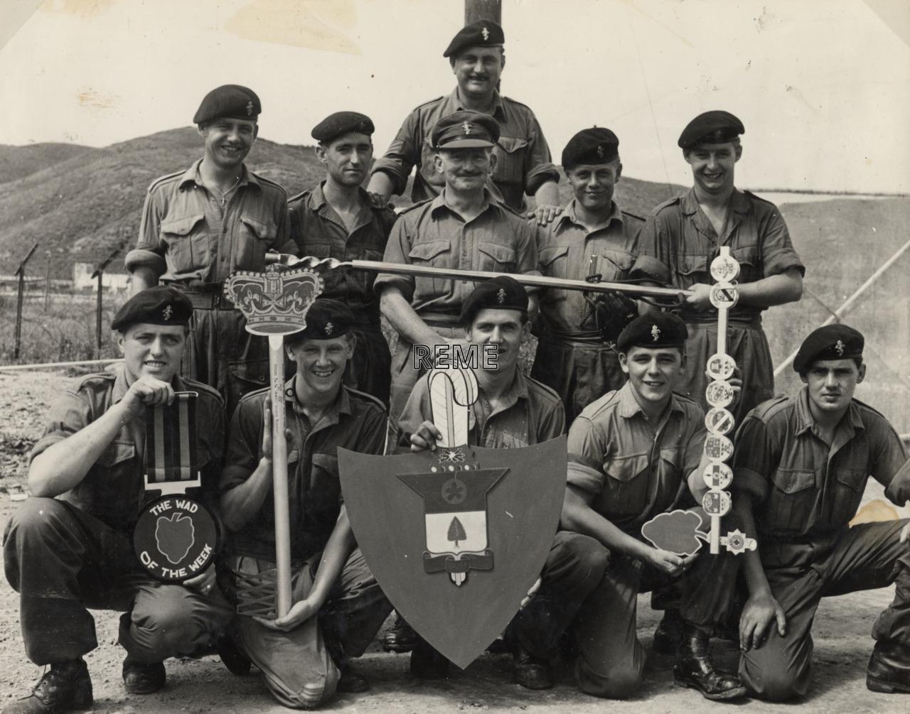 Captain Ronald Acres and members of CCK Infantry Light Aid Detachment, Korea