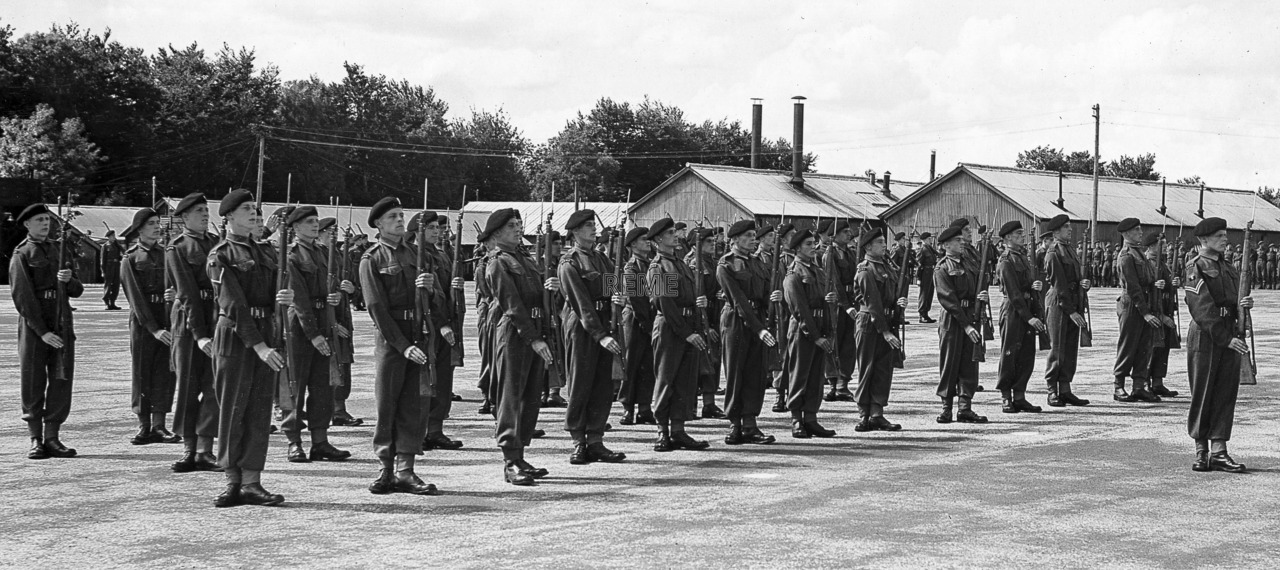 Visit of Major General S W Joslin to No 1 Training Battalion REME, Blandford