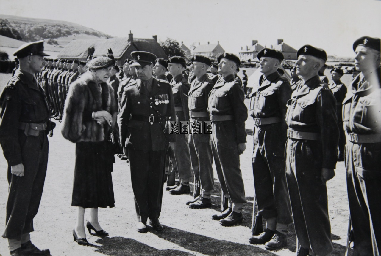 No1 Training Battalion REME: Inspection by Her Highness Princess Marie Louise