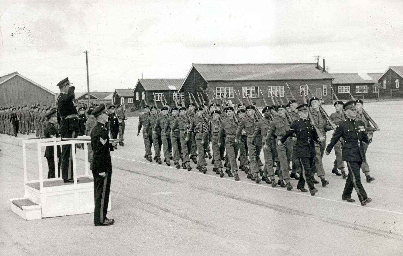 No 1 Training Battalion REME: 'A' Company Passing Out Parade 1958