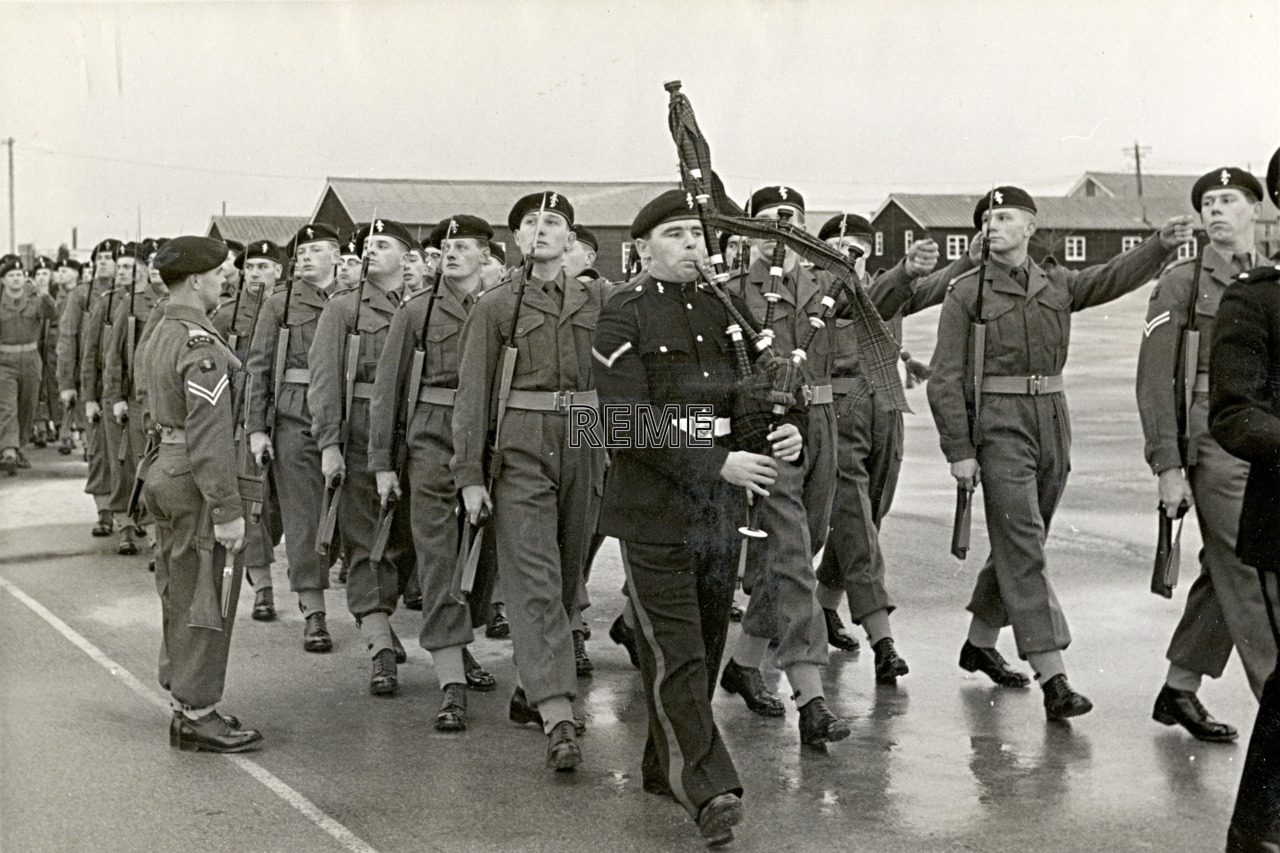 No 1 Training Battalion REME: Final Passing Out Parade of Regular Recruits.