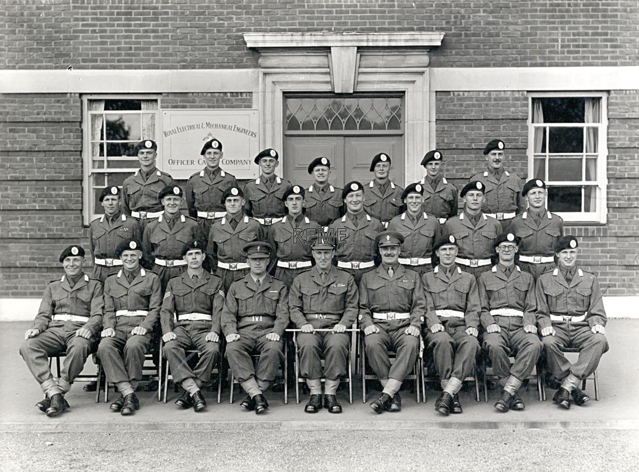 Officer Cadet Company, REME, Bordon: Intake No 15, June 1955