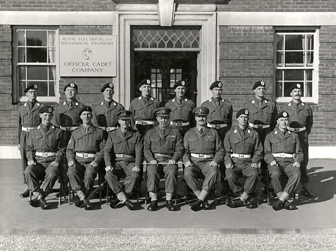 Officer Cadet Company, REME, Bordon: Intake No 21/22, September 1955