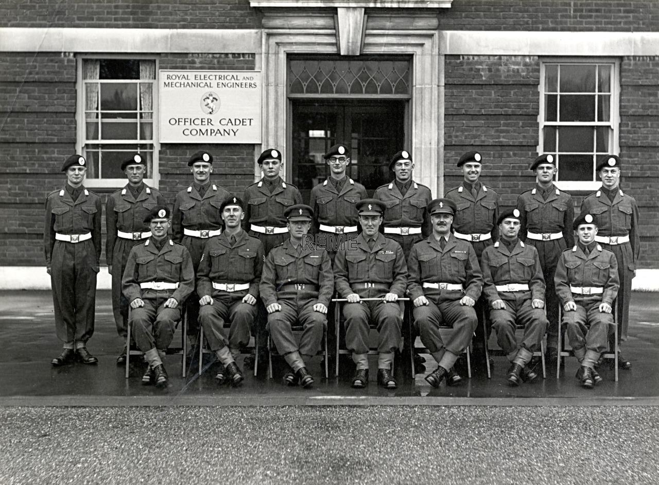 Officer Cadet Company, REME, Bordon: Intake No 24/25, November 1955.