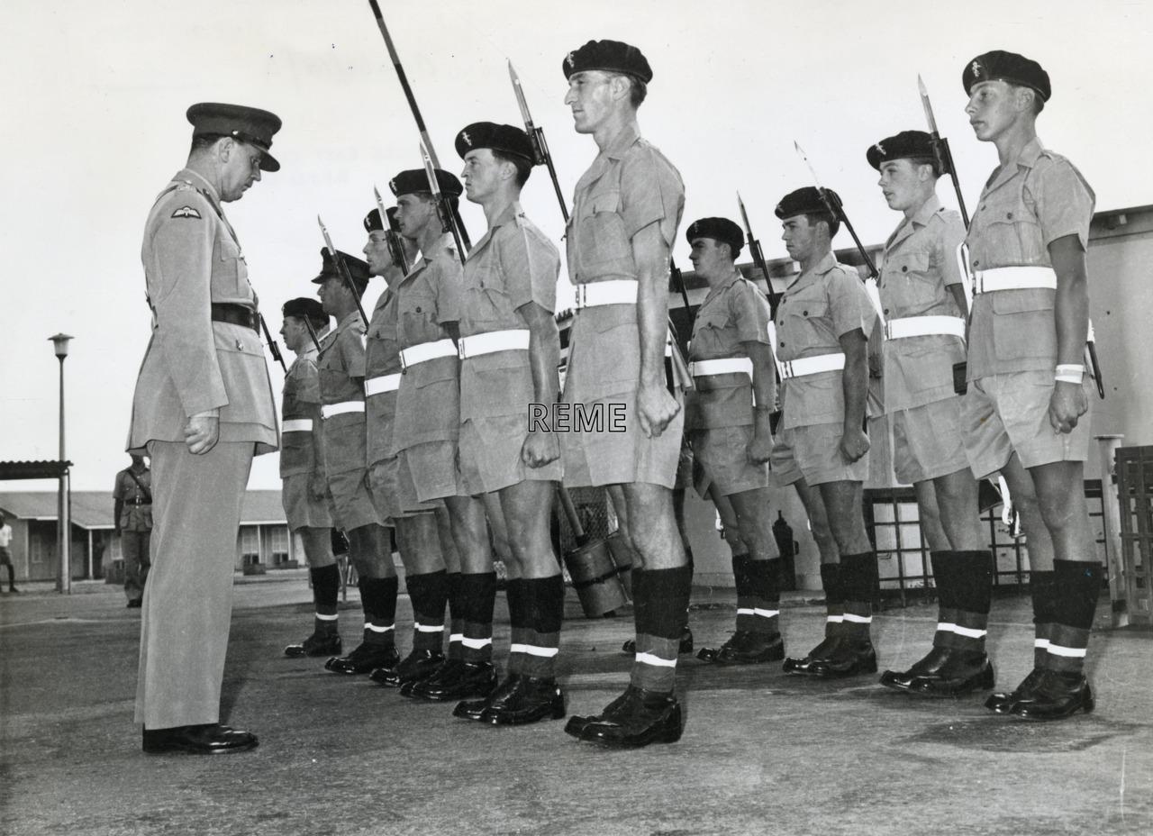 52 Command Workshop REME, Aden: Guard of Honour