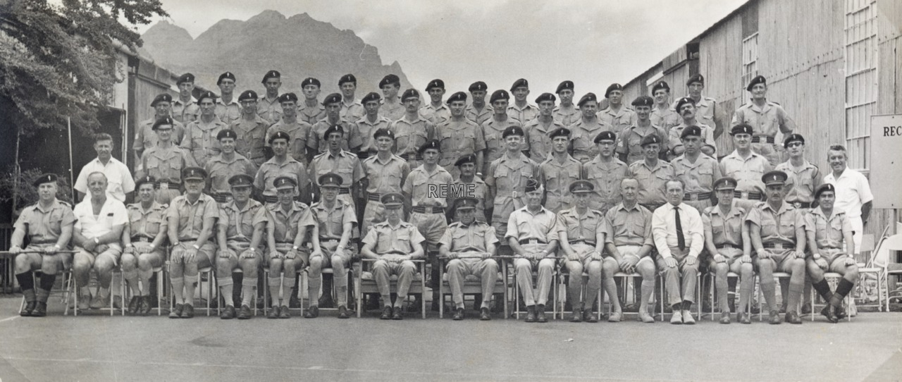 52 Command Workshop REME in Aden: hand over of Commanding Officer.