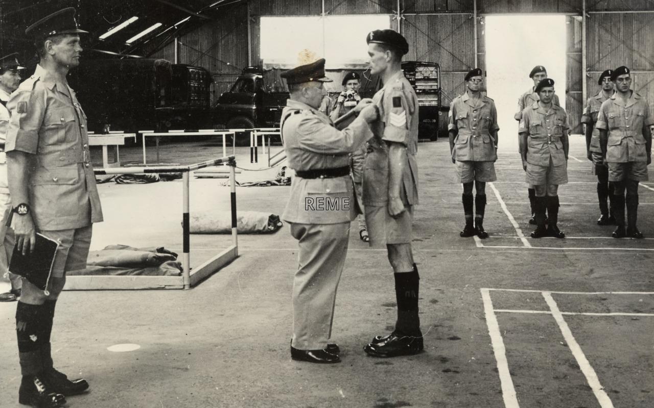 Visit of Major General Atkinson to 1 Infantry Workshop REME, Kahawa, Kenya, 13 November 1963