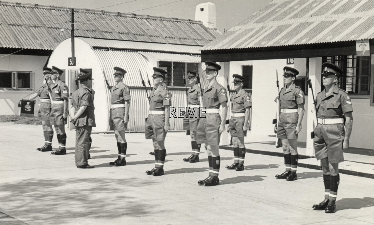 Major General Atkinson, Director of Electrical and Mechanical Engineering (DEME), visits Hong Kong, November 1964