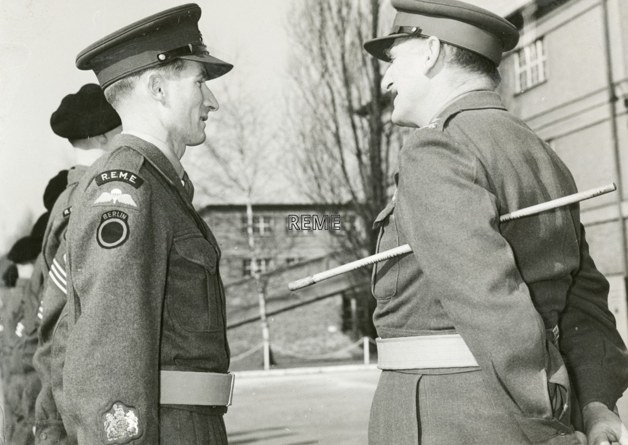 Visit by Major General W A Lord, CB, CBE, to Berlin Workshop, 9 March 1957.