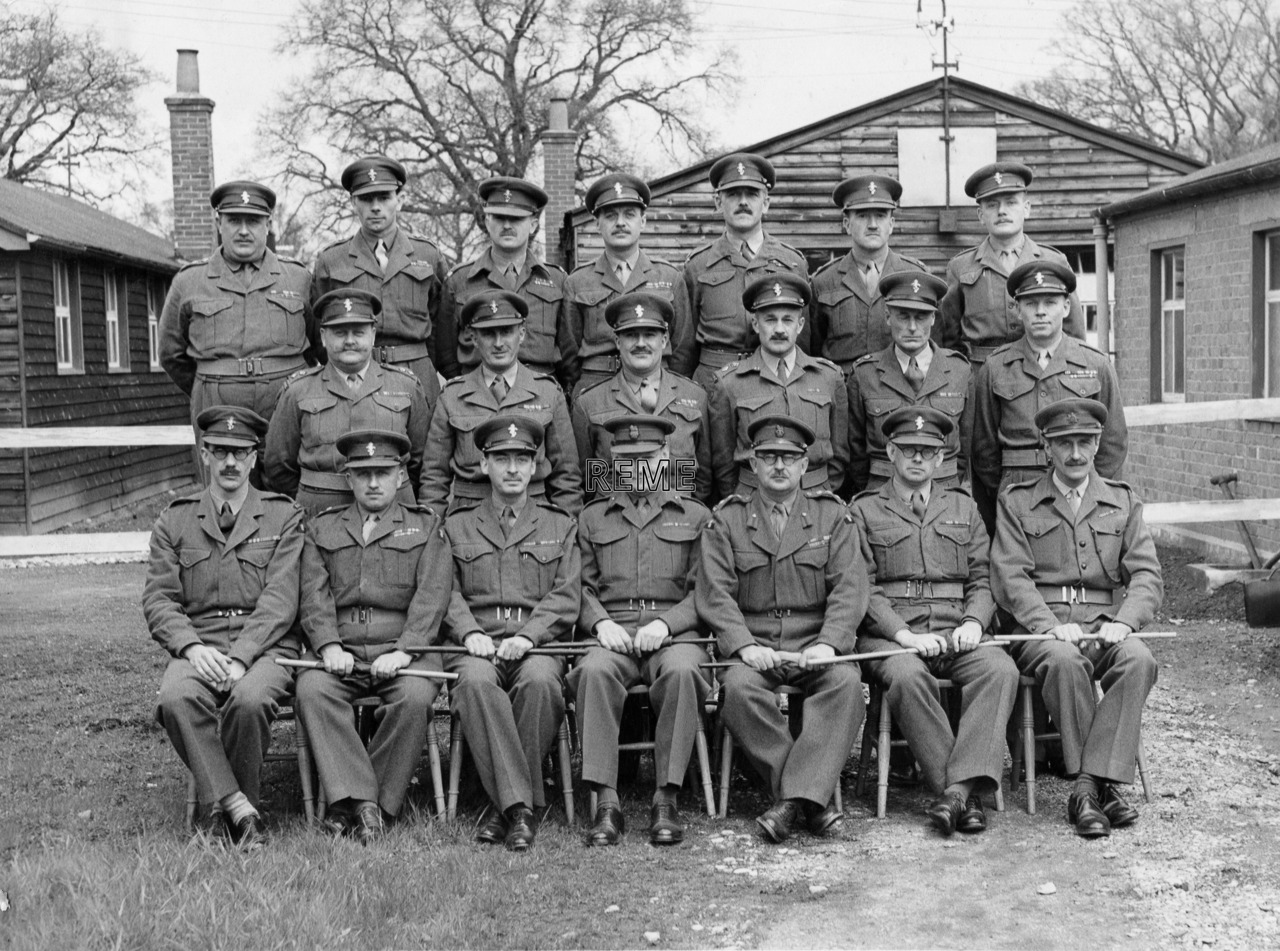 Headquarters REME Training Centre and Officers' School, Management Course, February 1951.