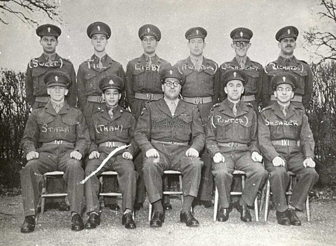 No 13 Regular Young Officers' Course, REME Officers' School, 1954