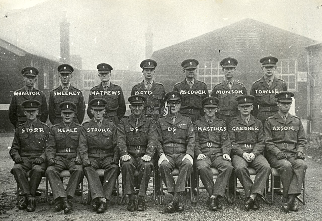 No 21 Regular Young Officers' Course, REME Officers' School, 1958