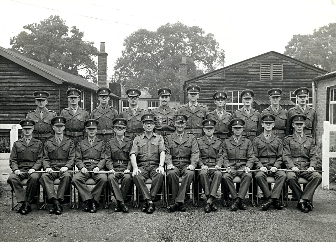 No 22 Regular Young Officers' Course, REME Officers' School, 1958