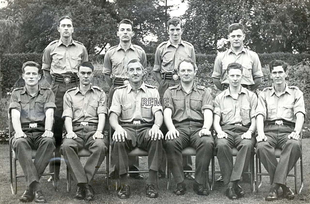 No 25 Regular Young Officers' Course, REME Officers' School, 1961