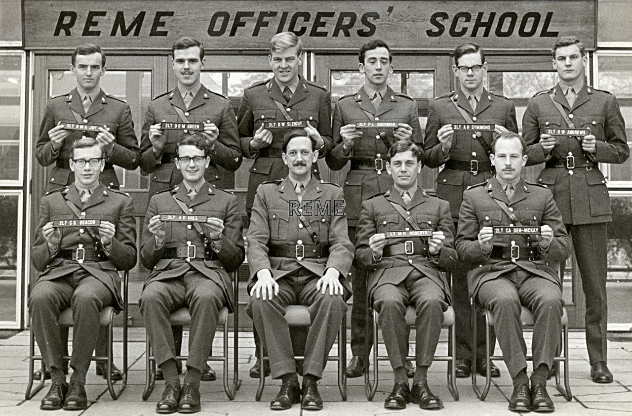 No 38 Regular Young Officers' Course, REME Officers' School, c 1967