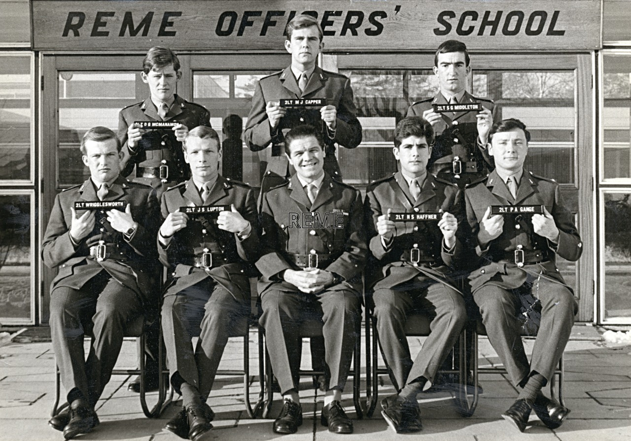 No 40 Regular Young Officers' Course, REME Officers' School, 1968