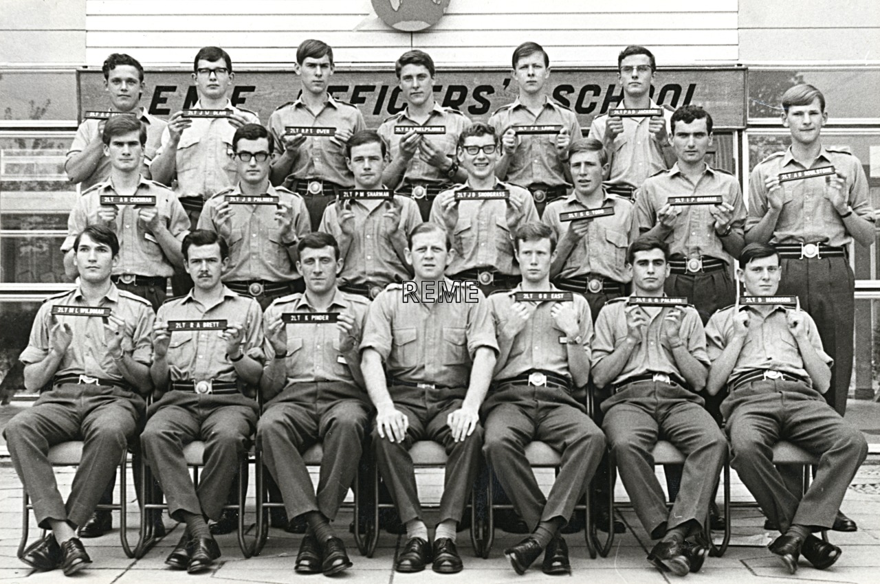 No 41 Regular Young Officers' Course, REME Officers' School, 1968