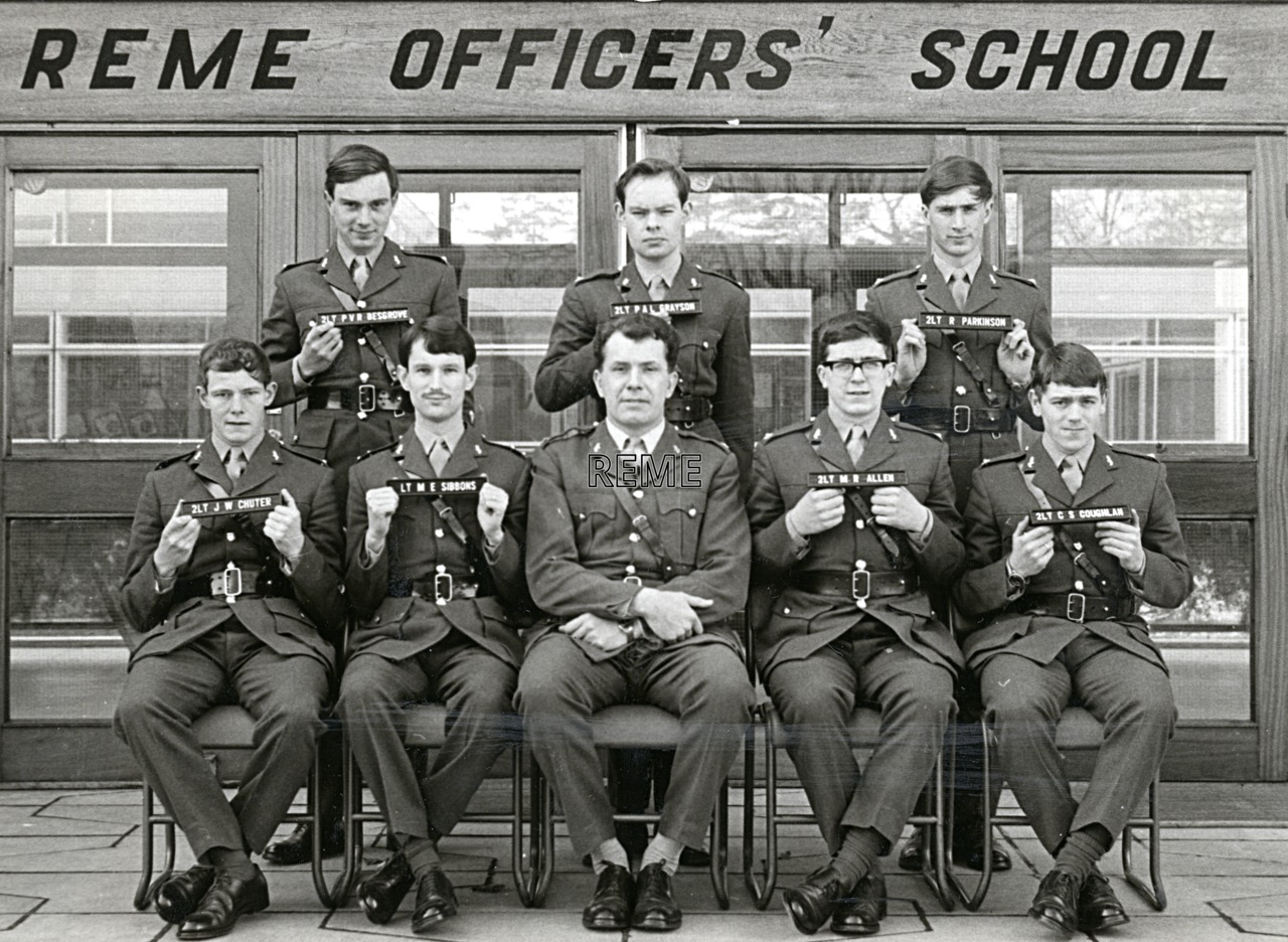 No 42 Regular Young Officers' Course, REME Officers' School, 1969