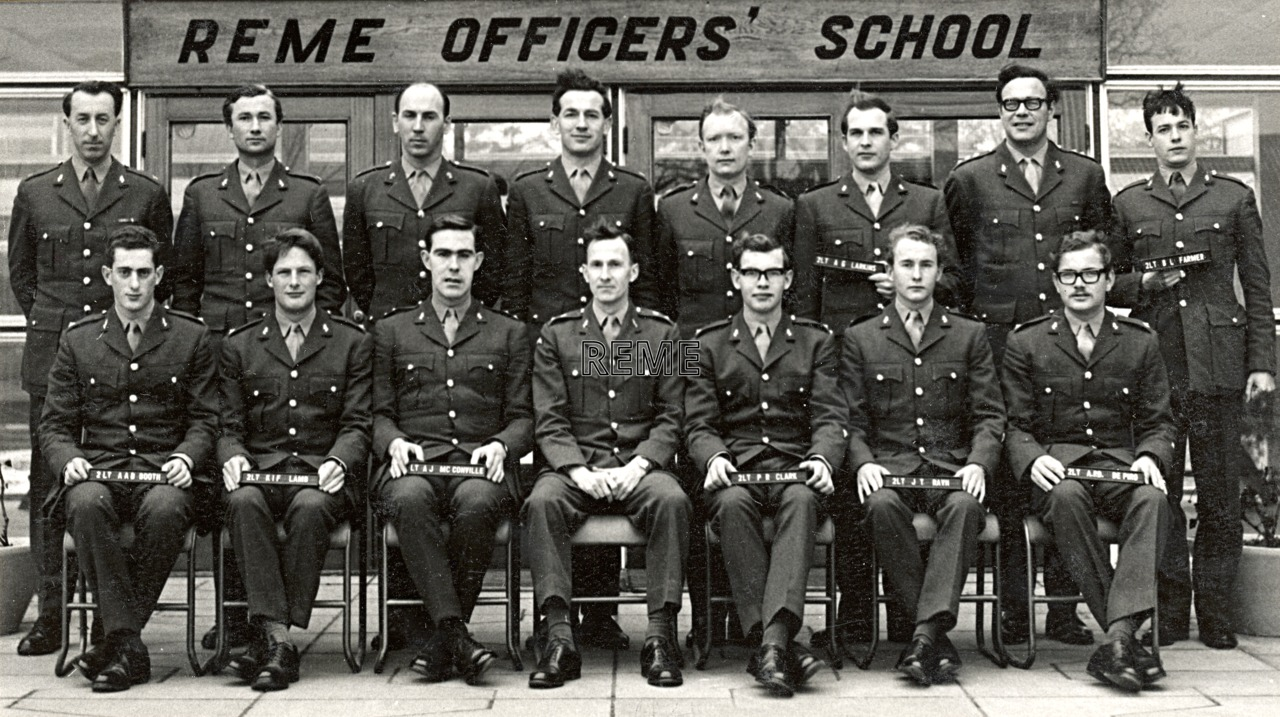 No 44 Regular Young Officers' Course, REME Officers' School, 1970.