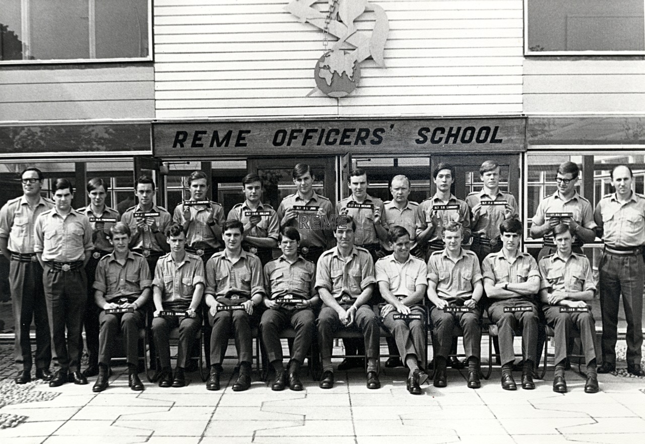 No 45 Regular Young Officers' Course, REME Officers' School, 1970