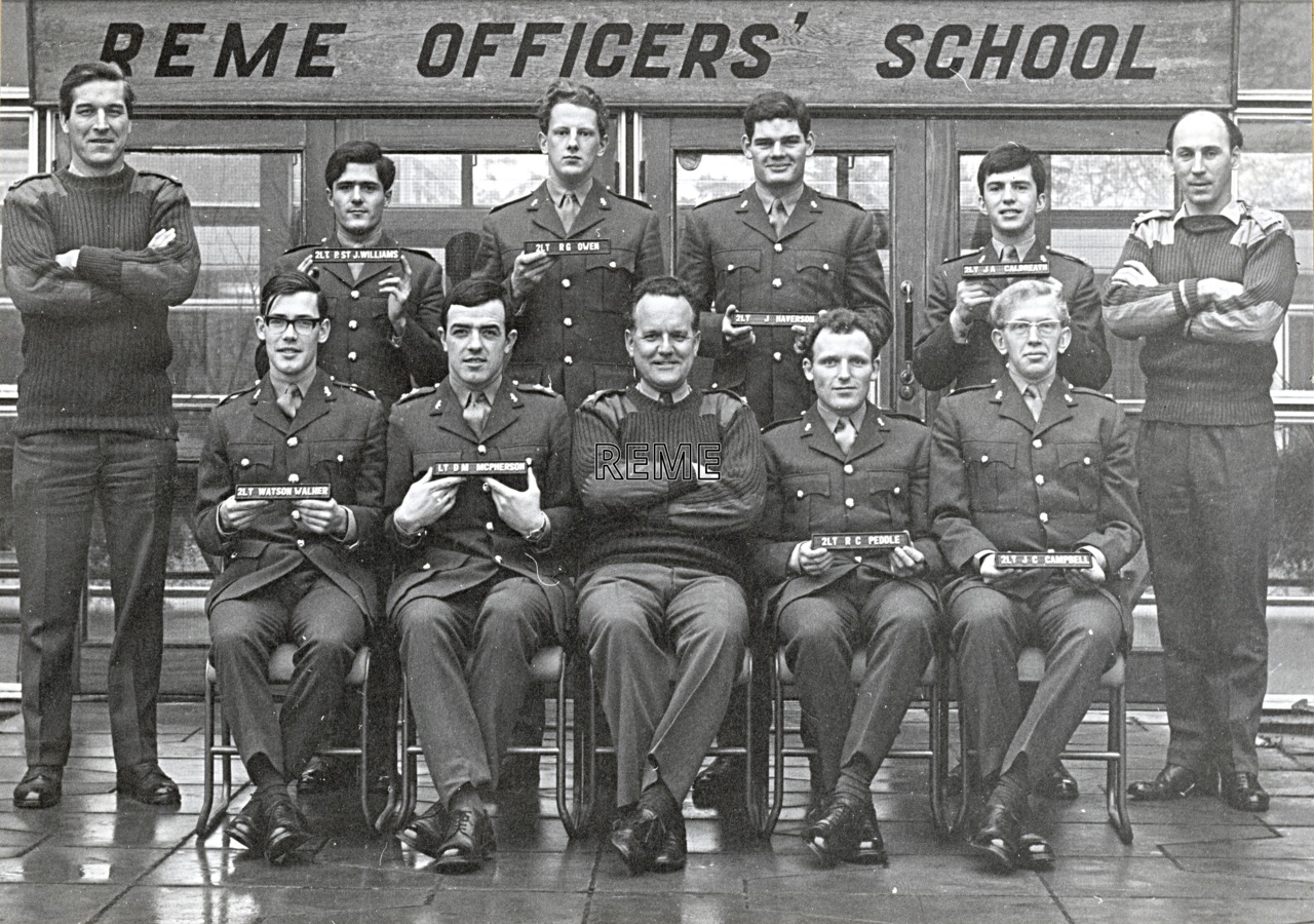 No 46 Regular Young Officers' Course, REME Officers' School, 1971.