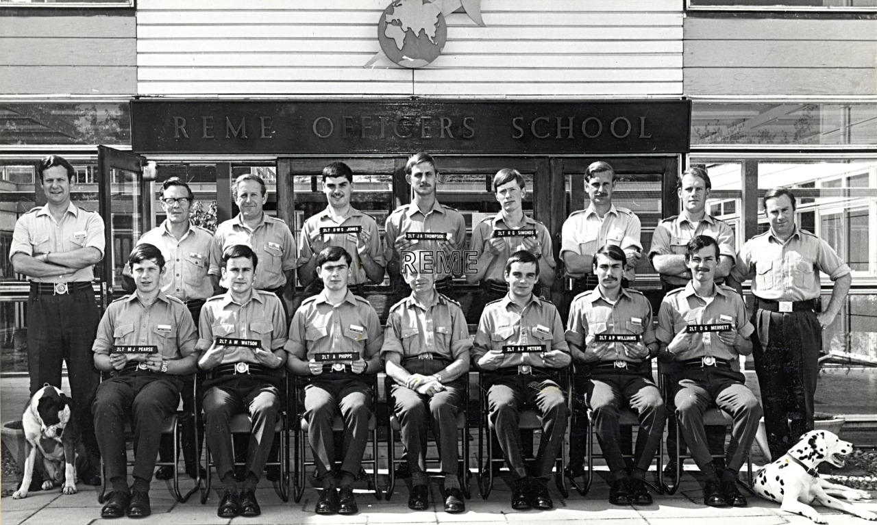 No 49 Regular Young Officers' Course, REME Officers' School, 1972