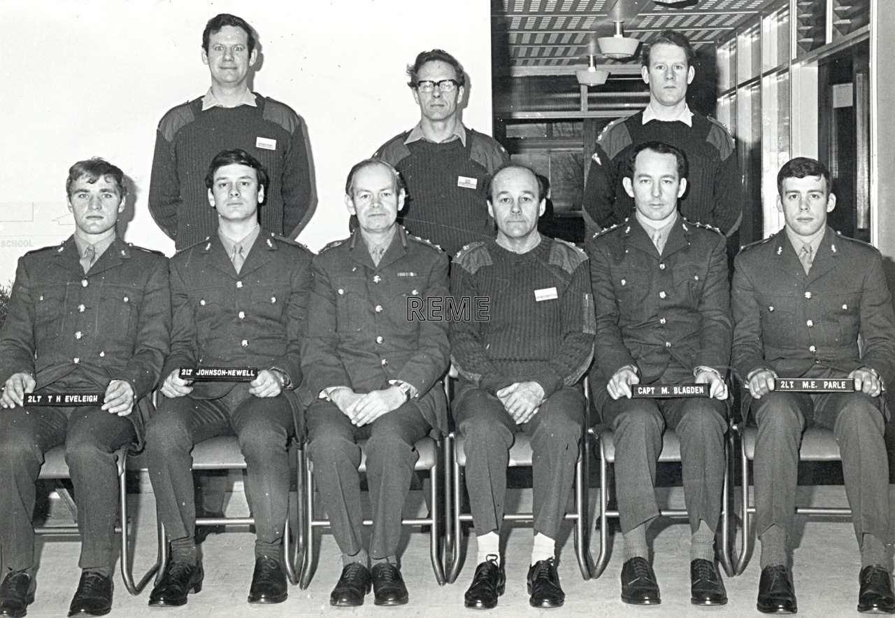 No 50 Regular Young Officers' Course, REME Officers' School, 1973