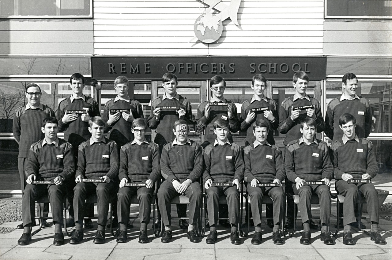 No 51 Regular Young Officers' Course, REME Officers' School, 1973