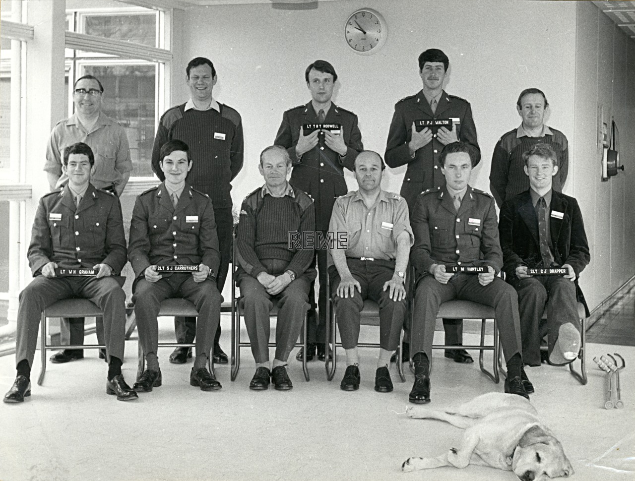 No 51A Regular Young Officers' Course, REME Officers' School, 1973