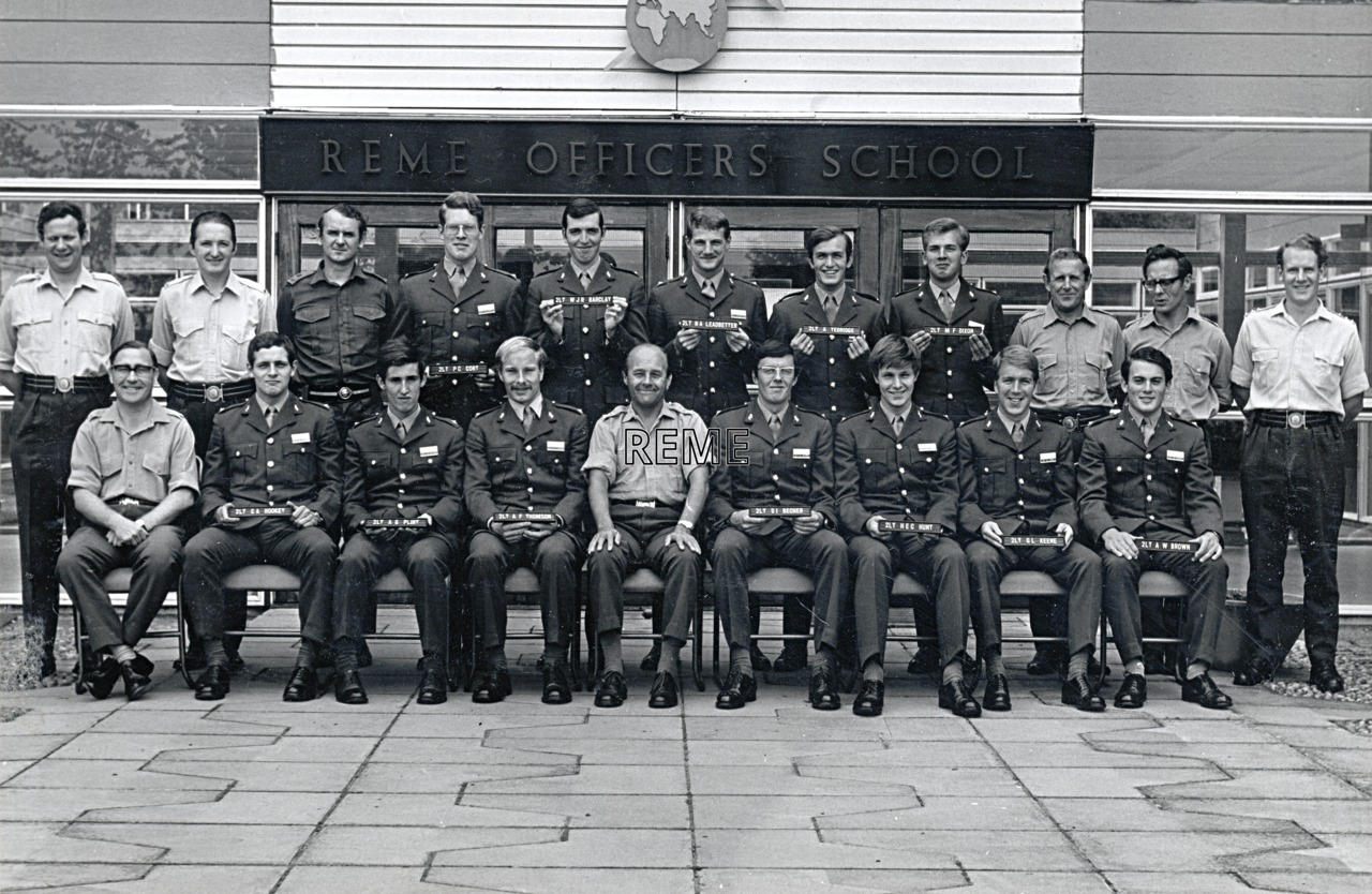 No 52 Regular Young Officers' Course, REME Officers' School, 1973