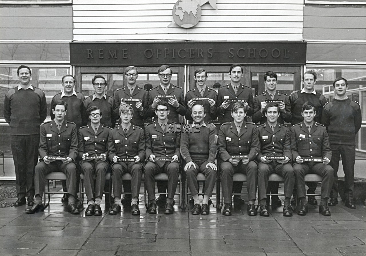 No 53 Regular Young Officers' Course, REME Officers' School, 1974