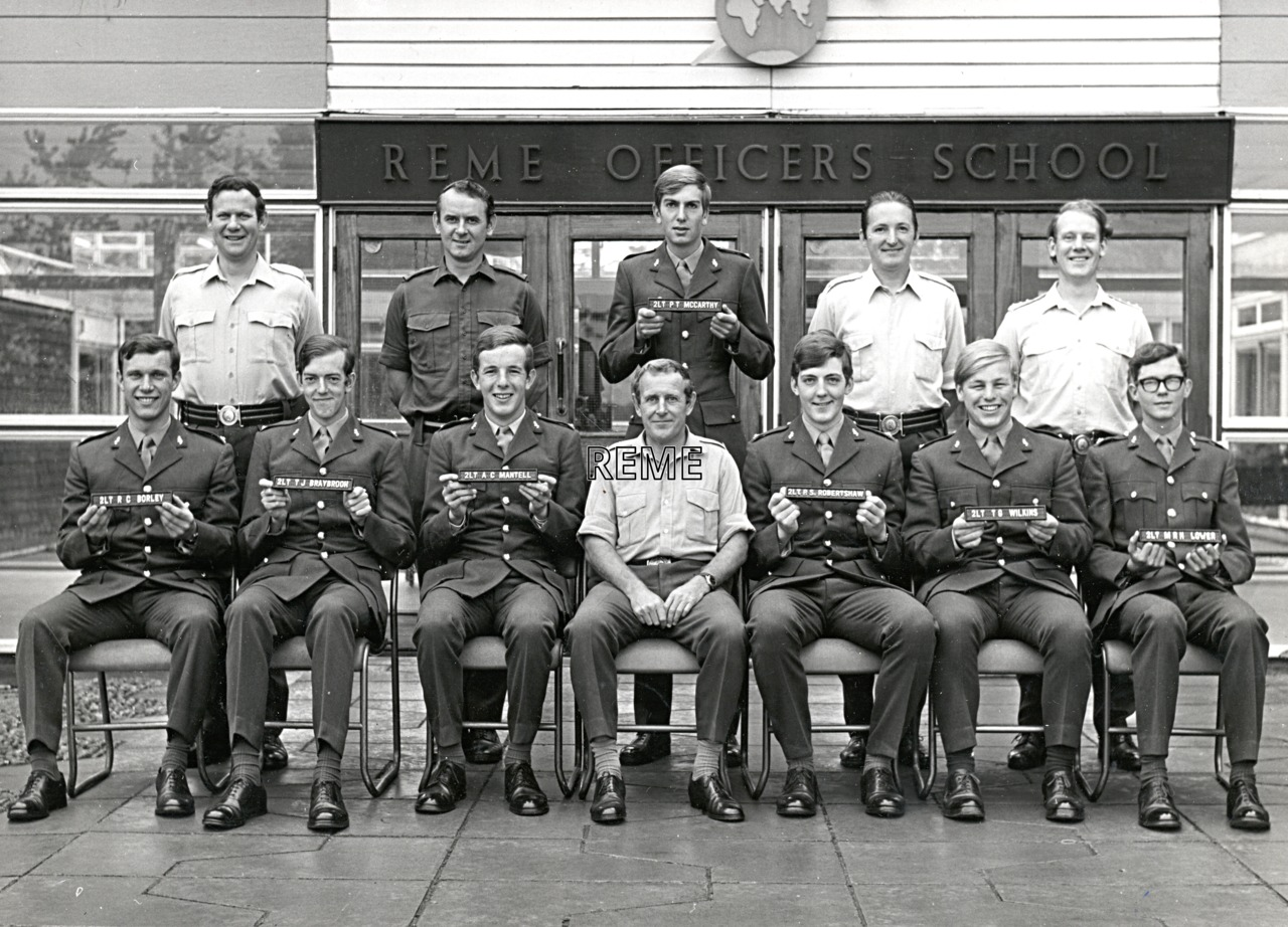 No 52A Regular Young Officers' Course, REME Officers' School, 1973