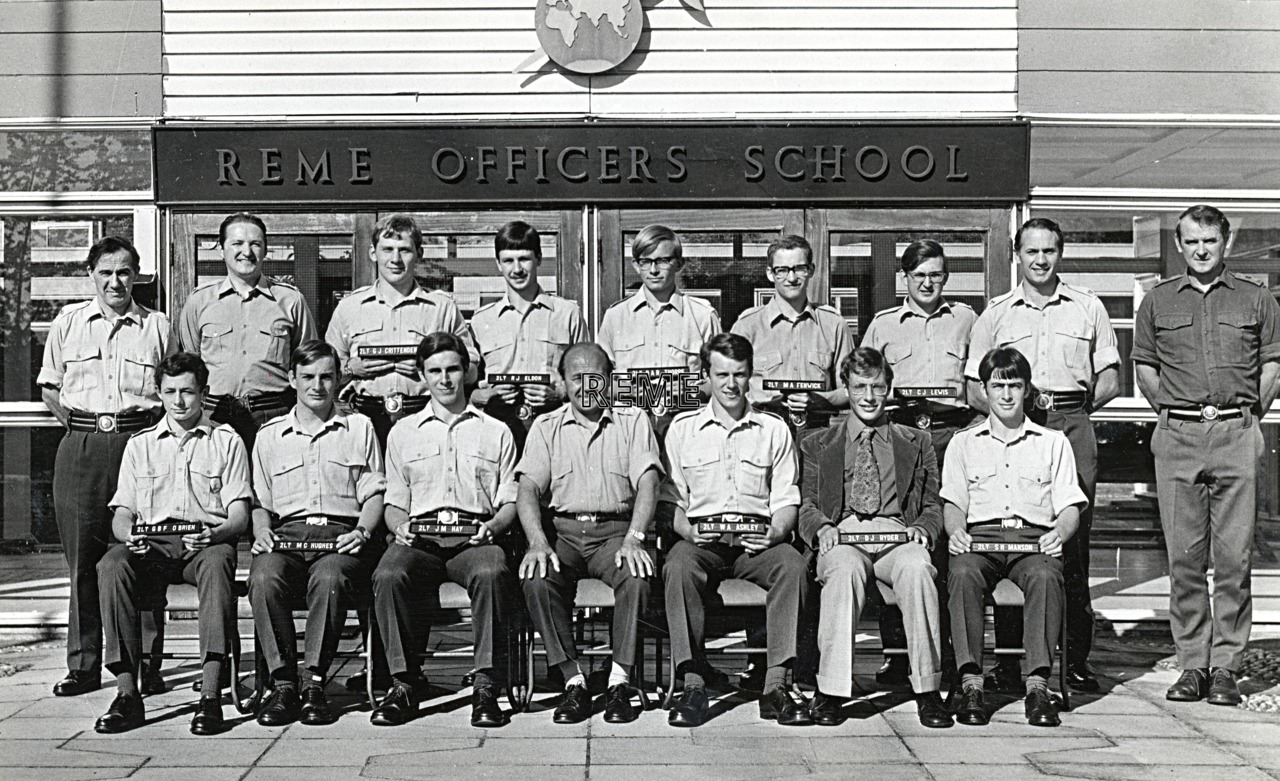 No 55 Regular Young Officers' Course, REME Officers' School, 1974.