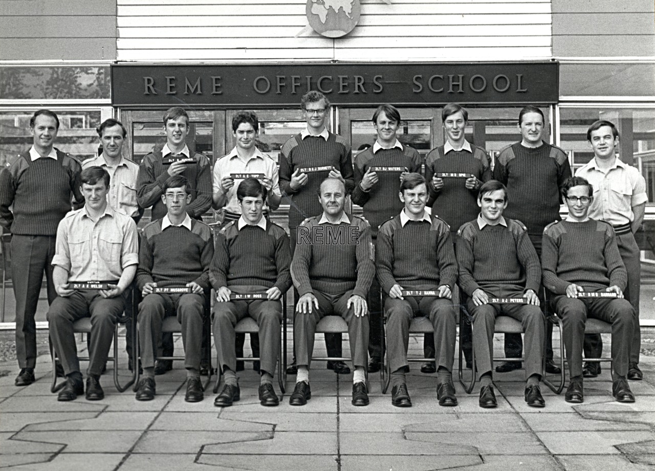 No 55A Regular Young Officers' Course, REME Officers' School, 1974