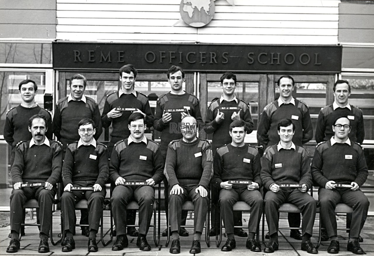 No 56 Regular Young Officers' Course, REME Officers' School, 1975