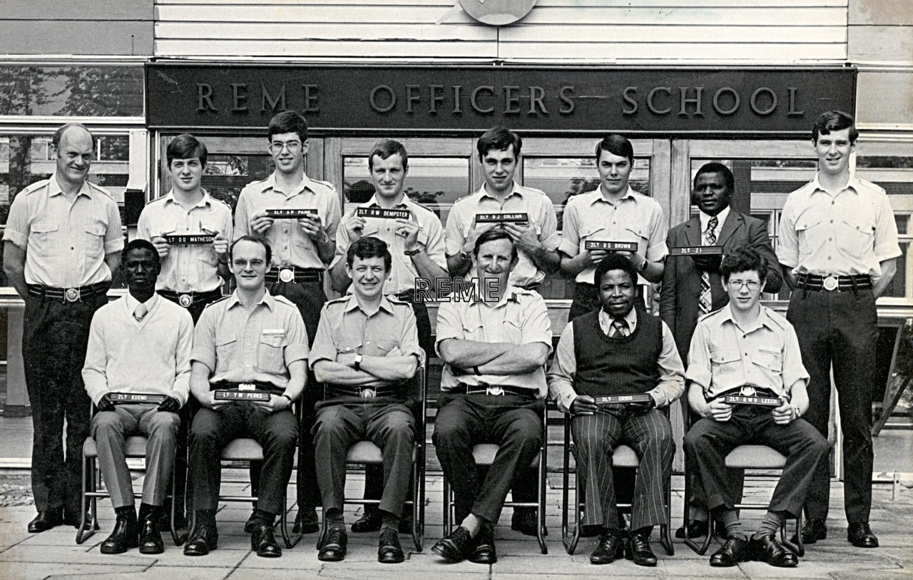No 60 Regular Young Officers' Course, REME Officers' School, 1976