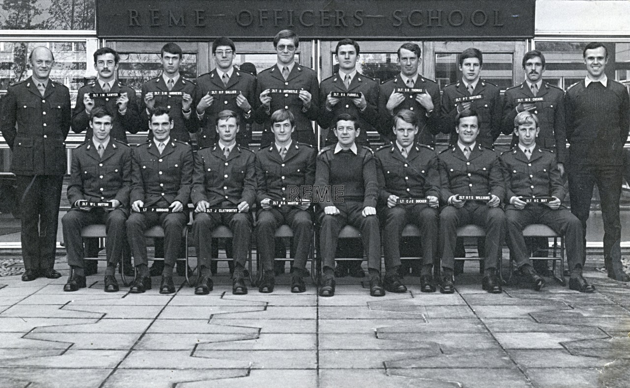 No 61 Regular Young Officers' Course, REME Officers' School, 1976