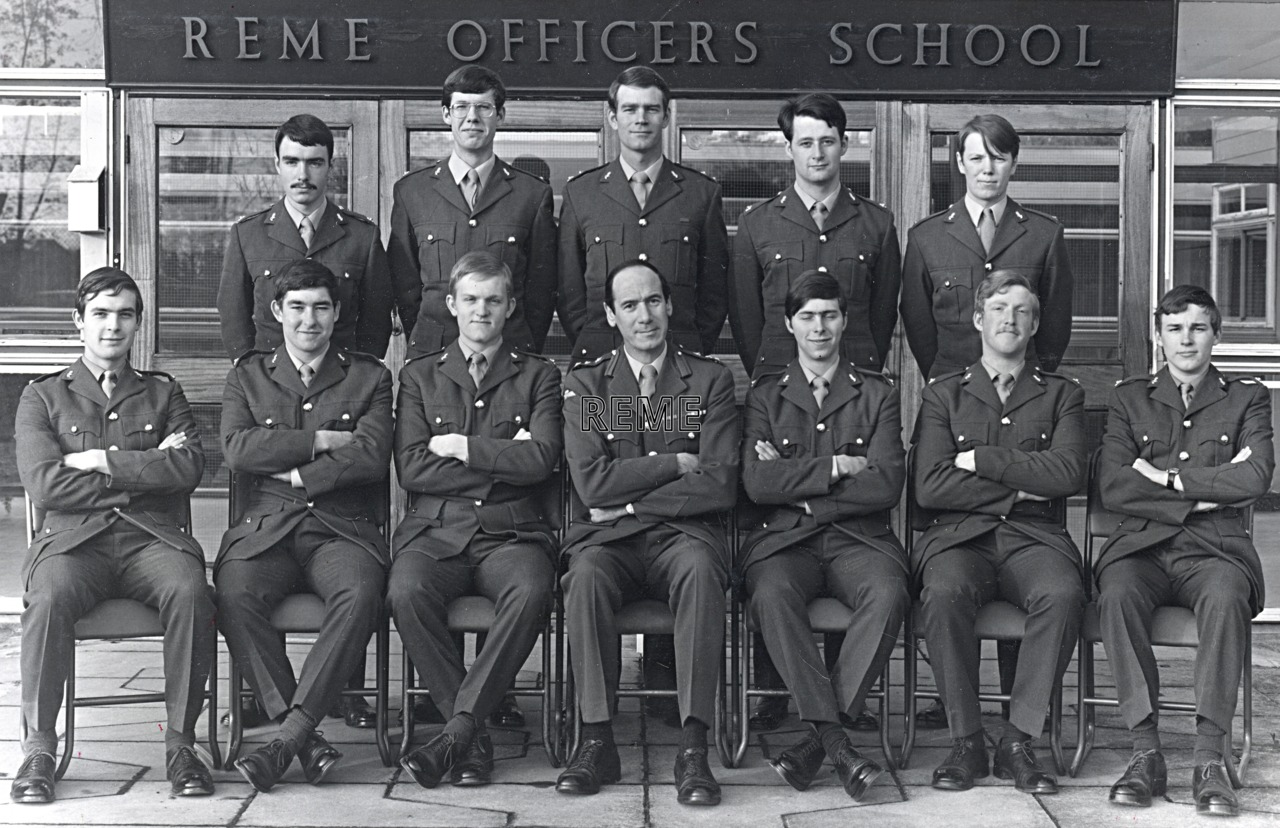 No 64 Regular Young Officers' Course, REME Officers' School, c 1977