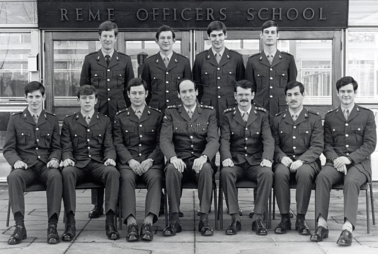 No 65 Regular Young Officers' Course, REME Officers' School, c 1978