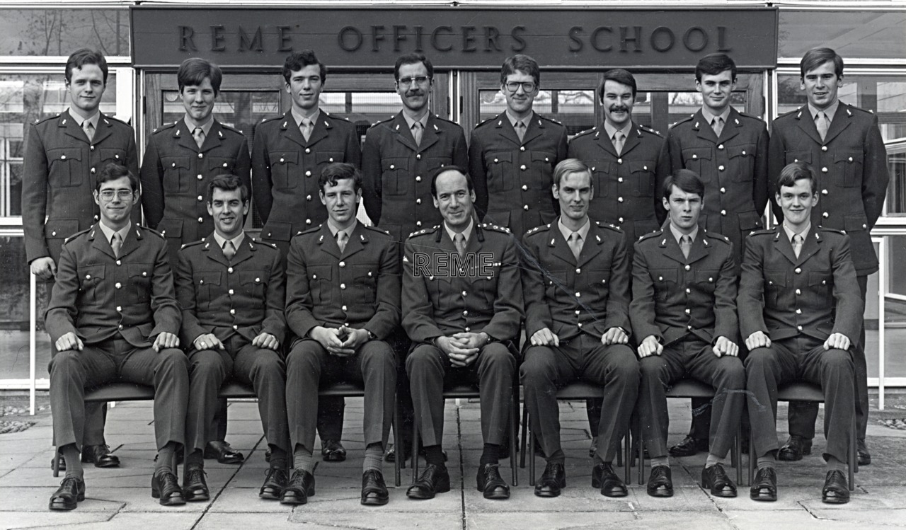 No 67 Regular Young Officers' Course, REME Officers' School, c 1978