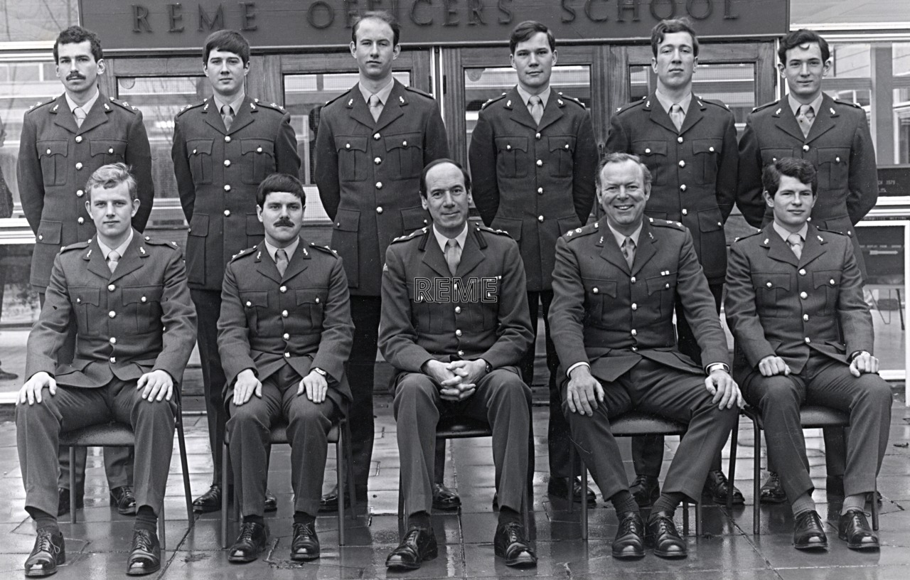 No 68 Regular Young Officers' Course, REME Officers' School, c 1979