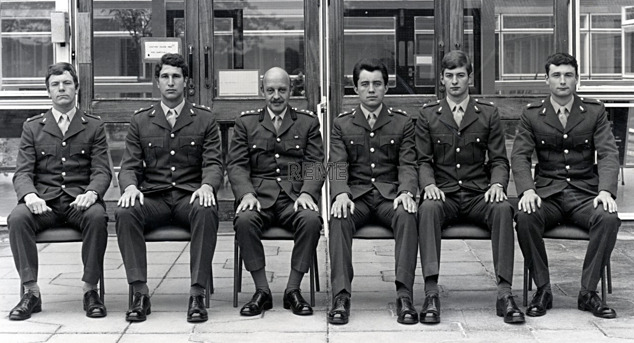 No 69 Regular Young Officers' Course, REME Officers' School, c 1979