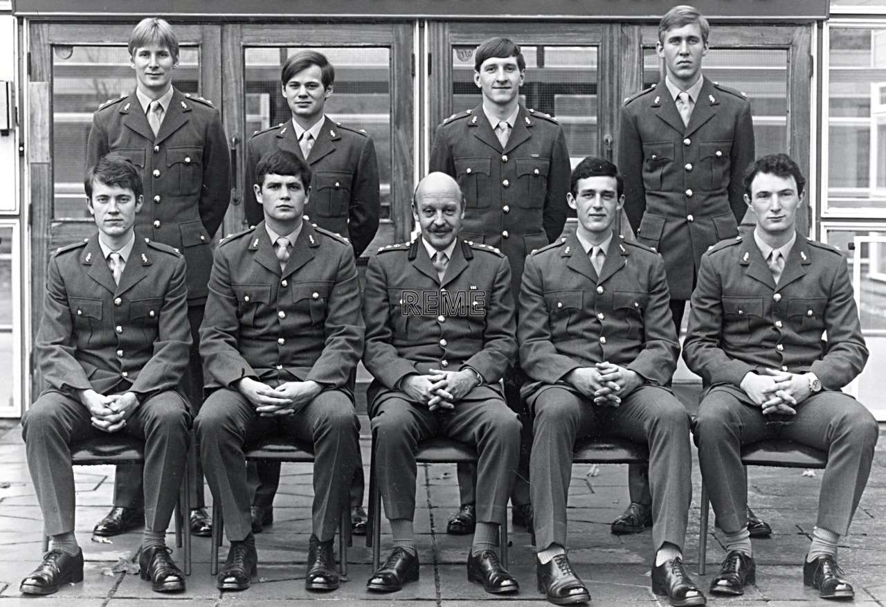 No 70 Regular Young Officers' Course, REME Officers' School, c 1979